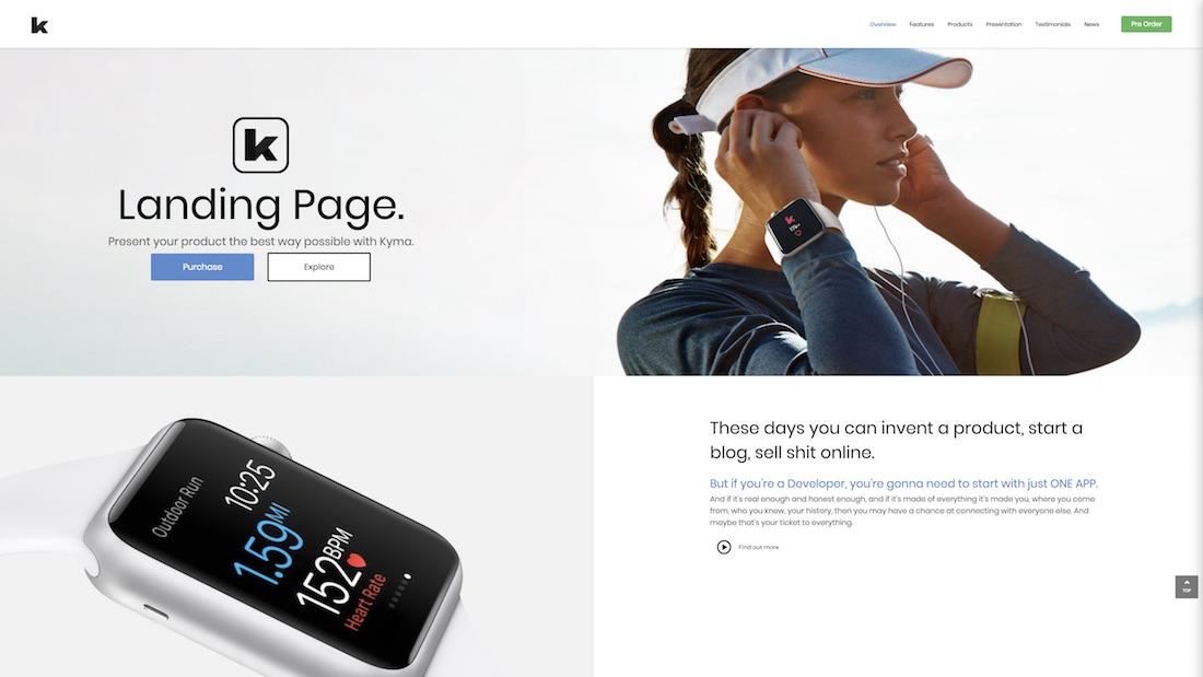kyma graphic design website template