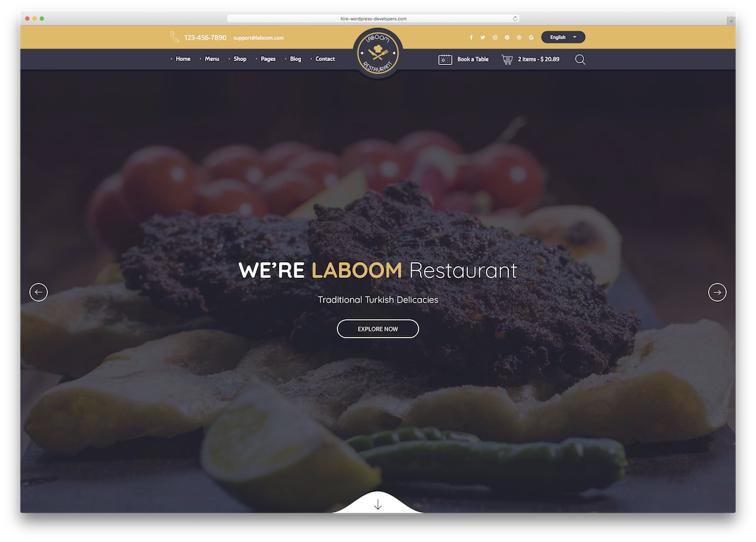 la boom html5 website template