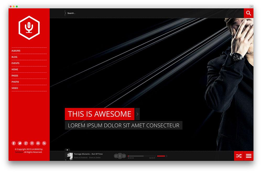 Laband Creative Fullscreen Music Theme
