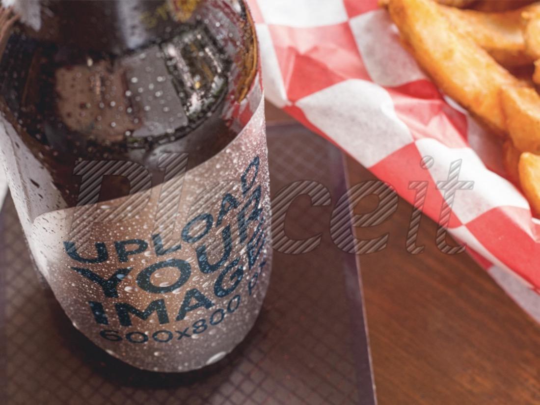 label mockup of a beer bottle