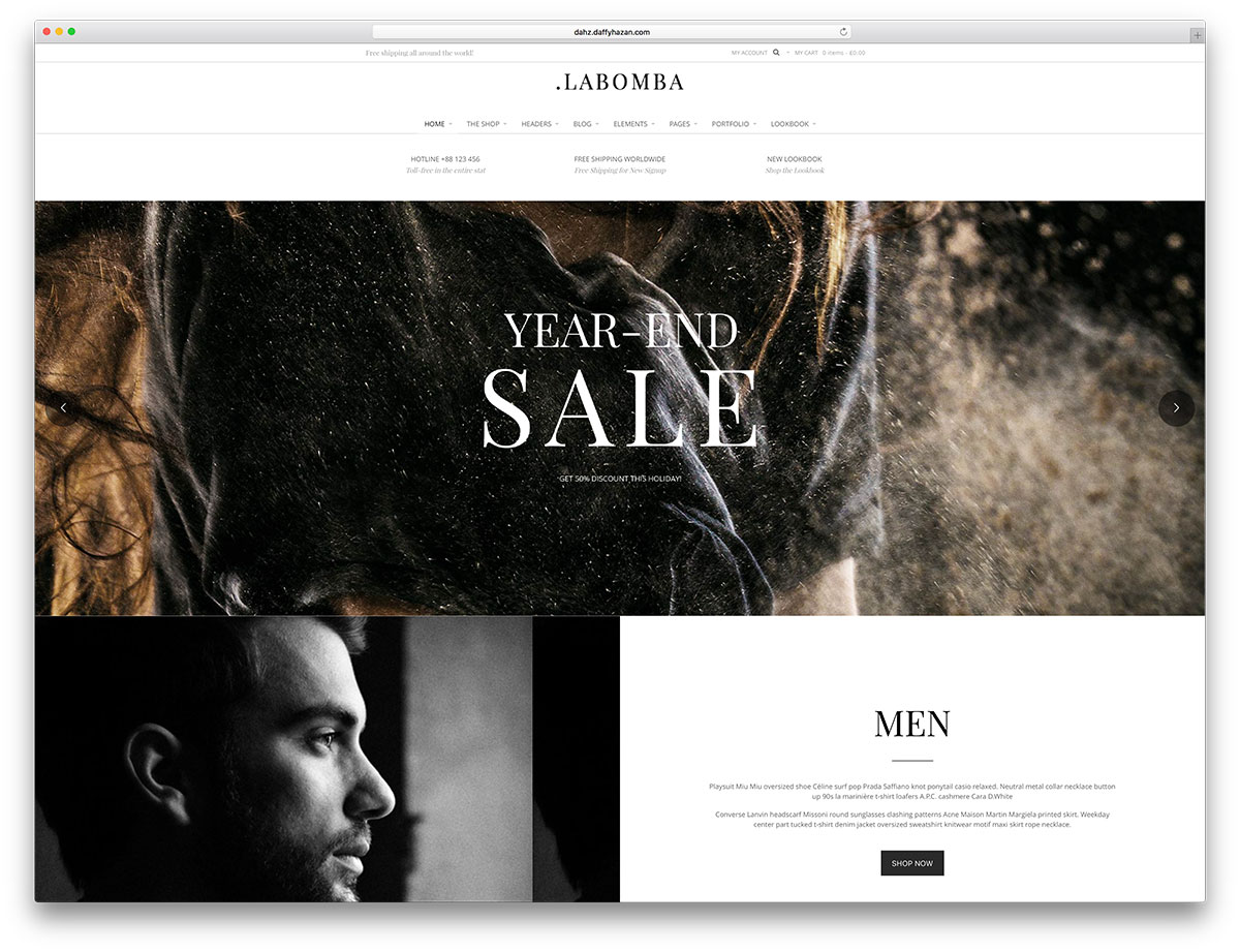labomba-classic-ecommerce-website-template