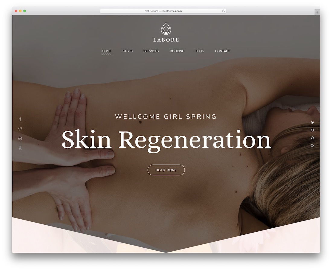 labore massage wordpress theme