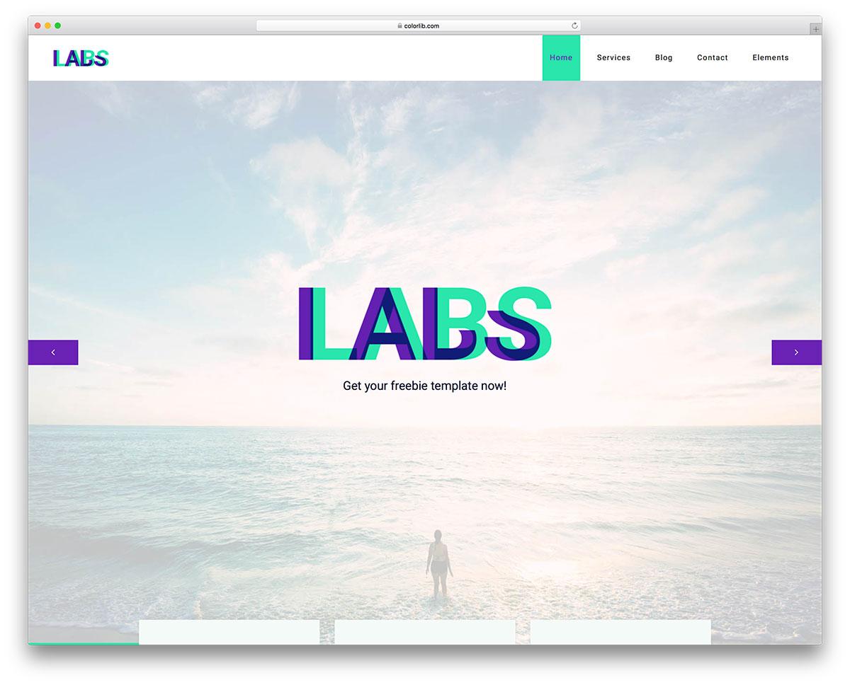 Скачать бесплатно html шаблон Labs