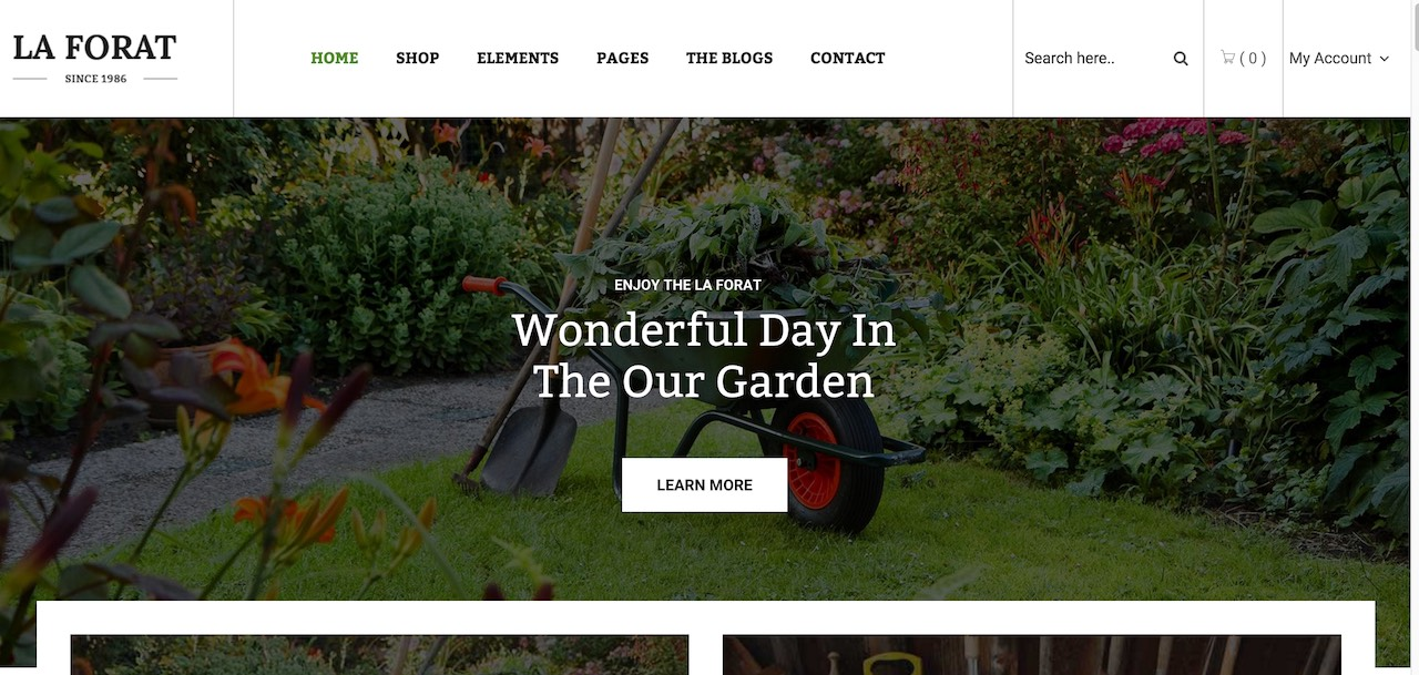 30 best gardening and landscaping wordpress themes 2017 colorlib laforat is a full on business theme specifically for gardeners and landscape adepts the idea behind laforat theme is for it to function as a bridge between workwithnaturefo