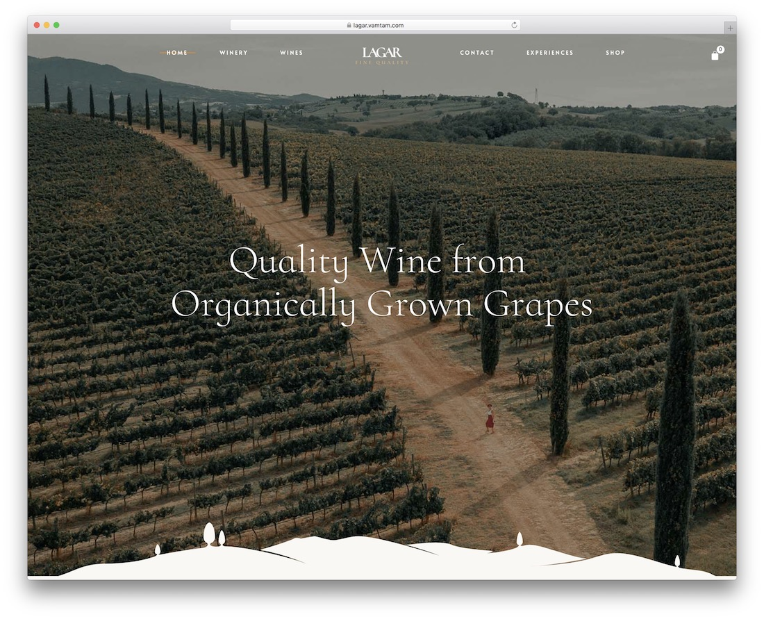 lagar wine wordpress theme