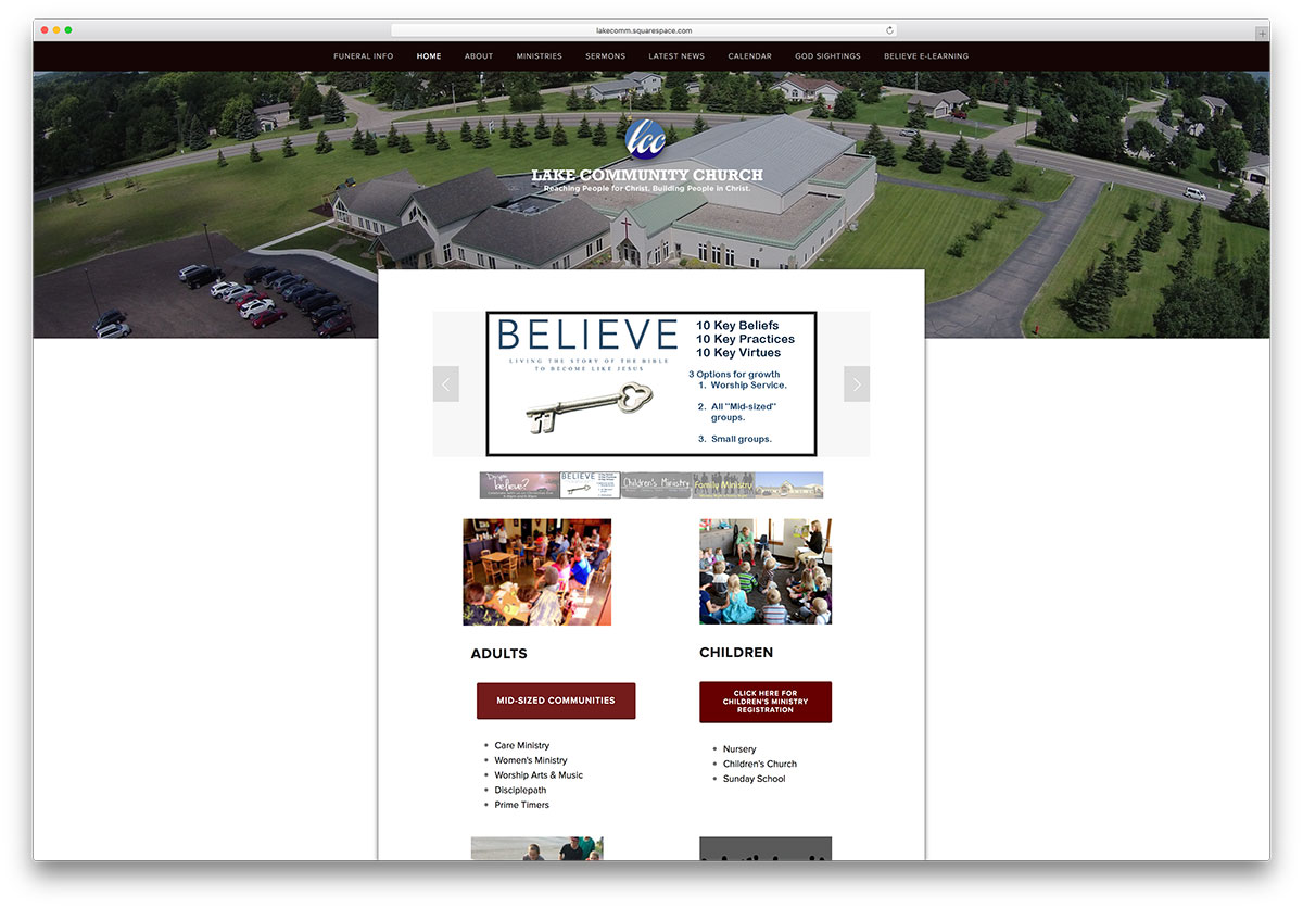lakecomm-squarespace-church-website-example