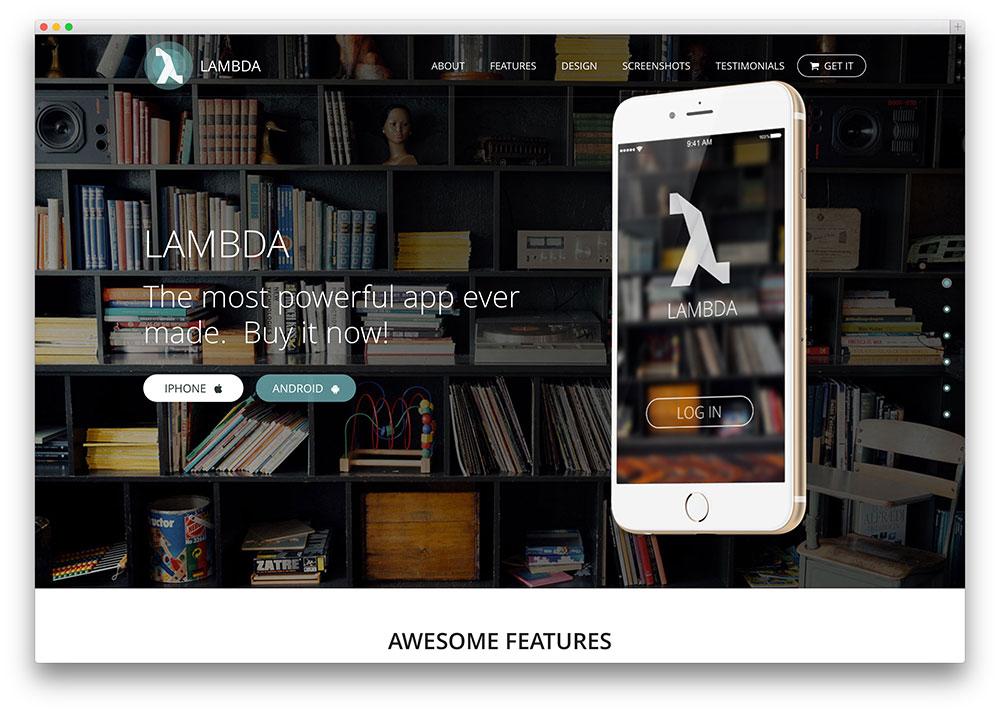lambda - multipurpose Bootstrap theme