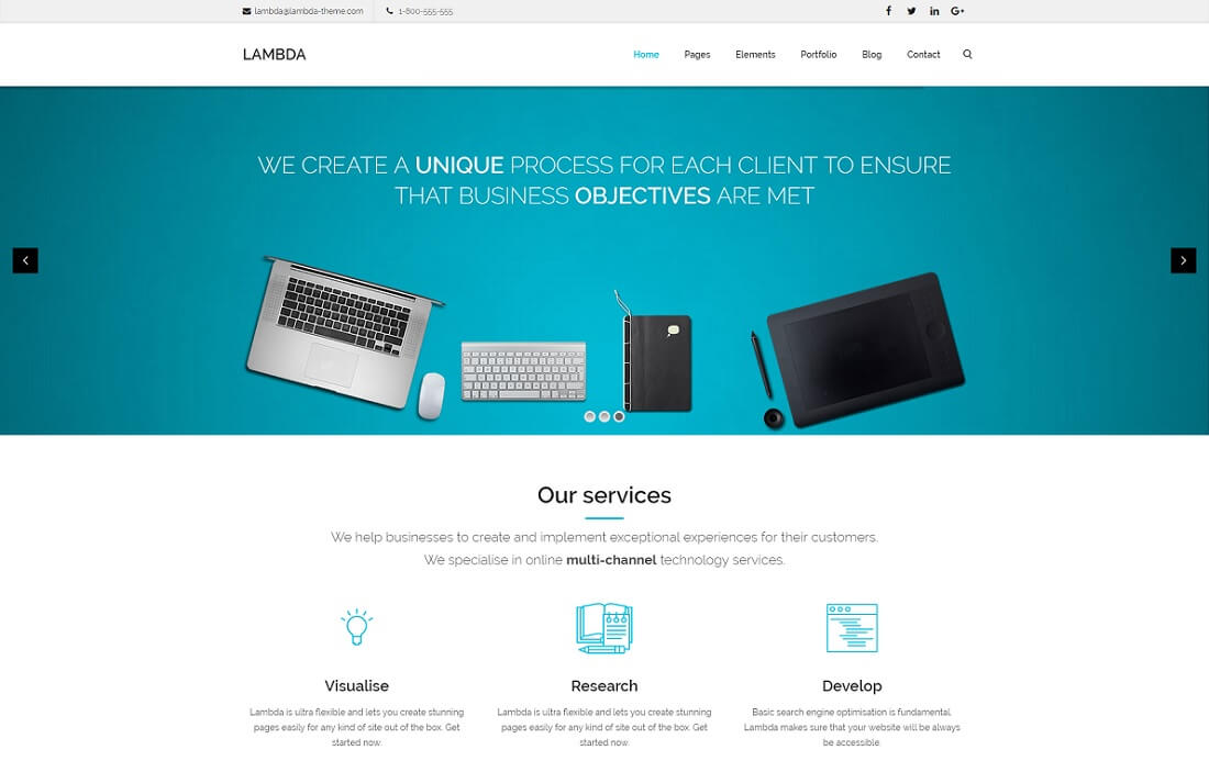 lambda bootstrap business website template
