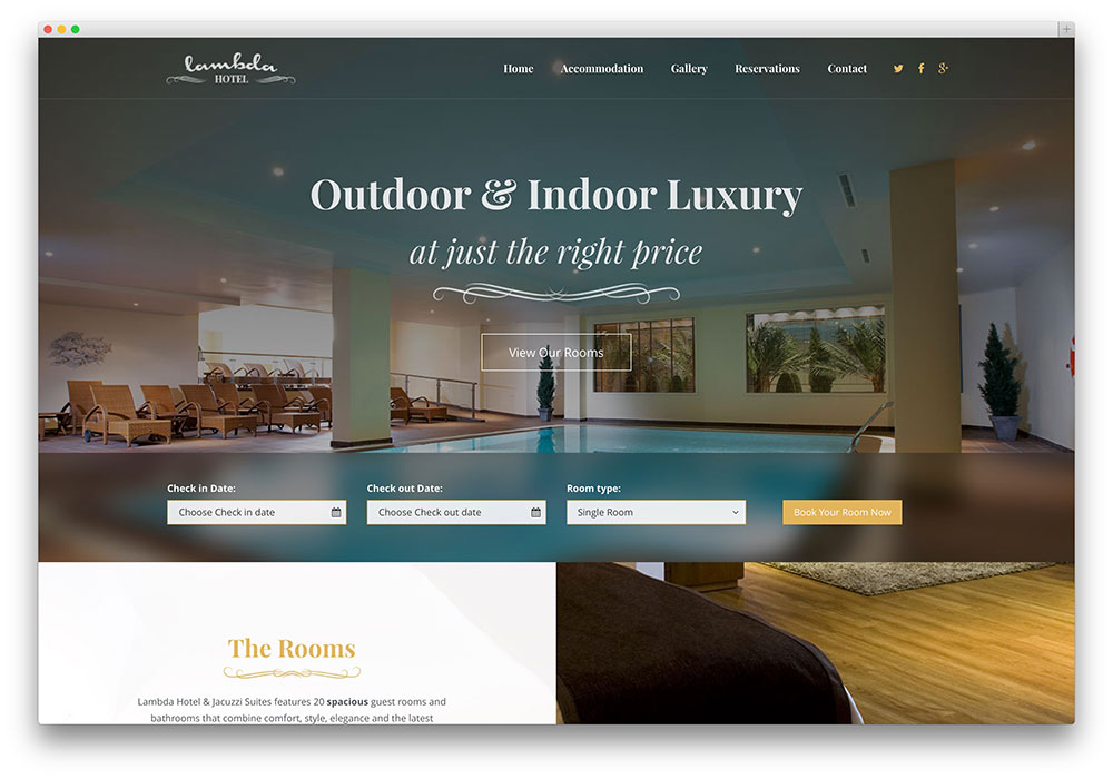 lambda - hotel booking theme