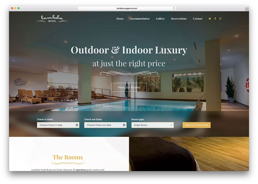 Lambda Multipurpose Hotel Booking Website Template