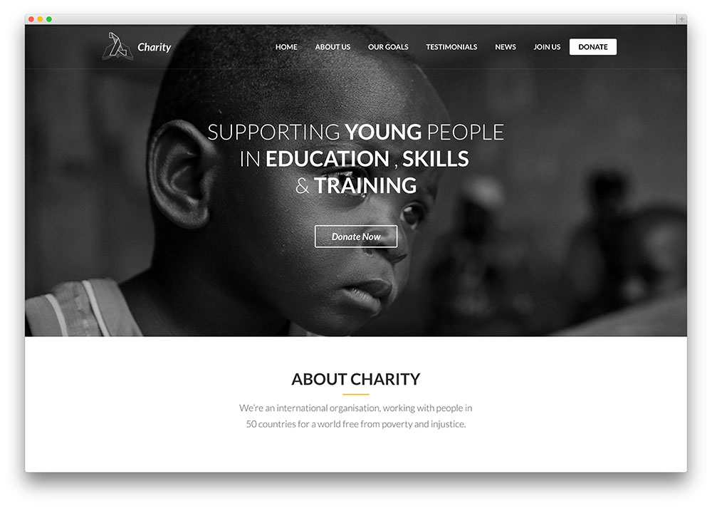 lambda - one page charity theme