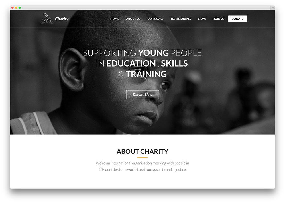 lambda - one page charity theme