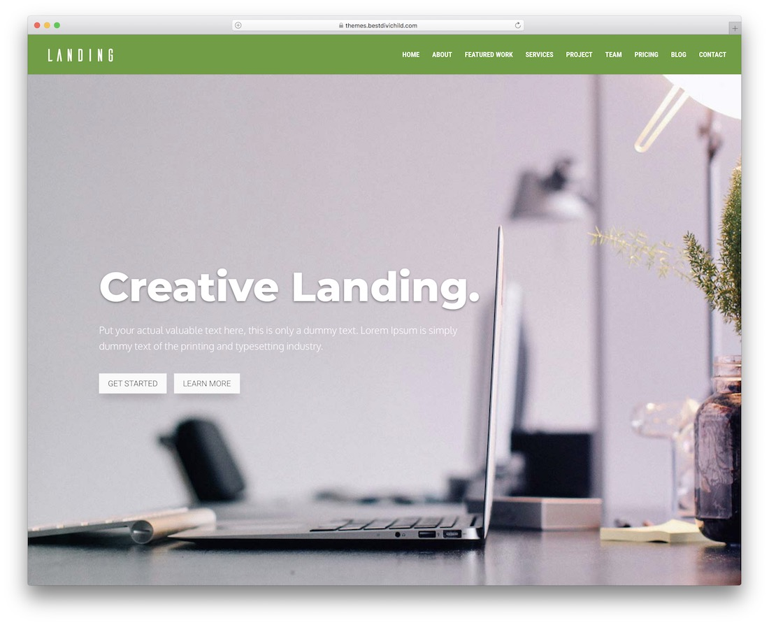 landing divi child theme