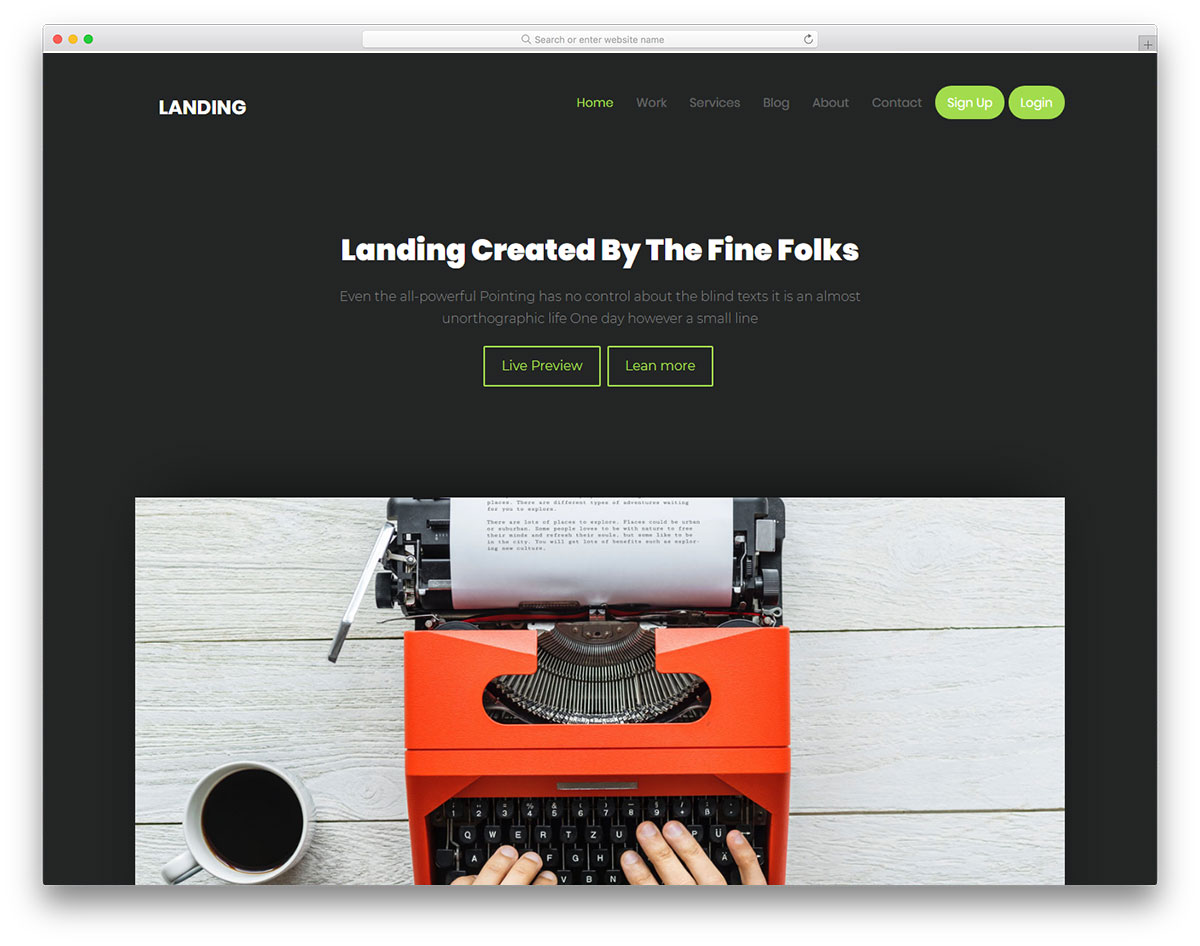 Top 27 Free Landing Pages Templates Built With Bootstrap 2018 - Colorlib