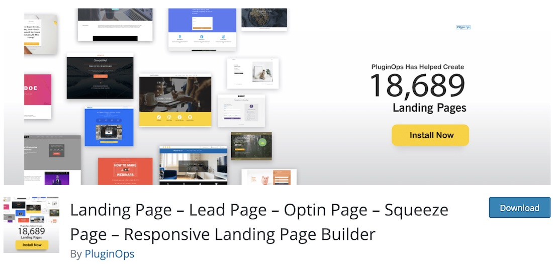 landing page builder wordpress plugin
