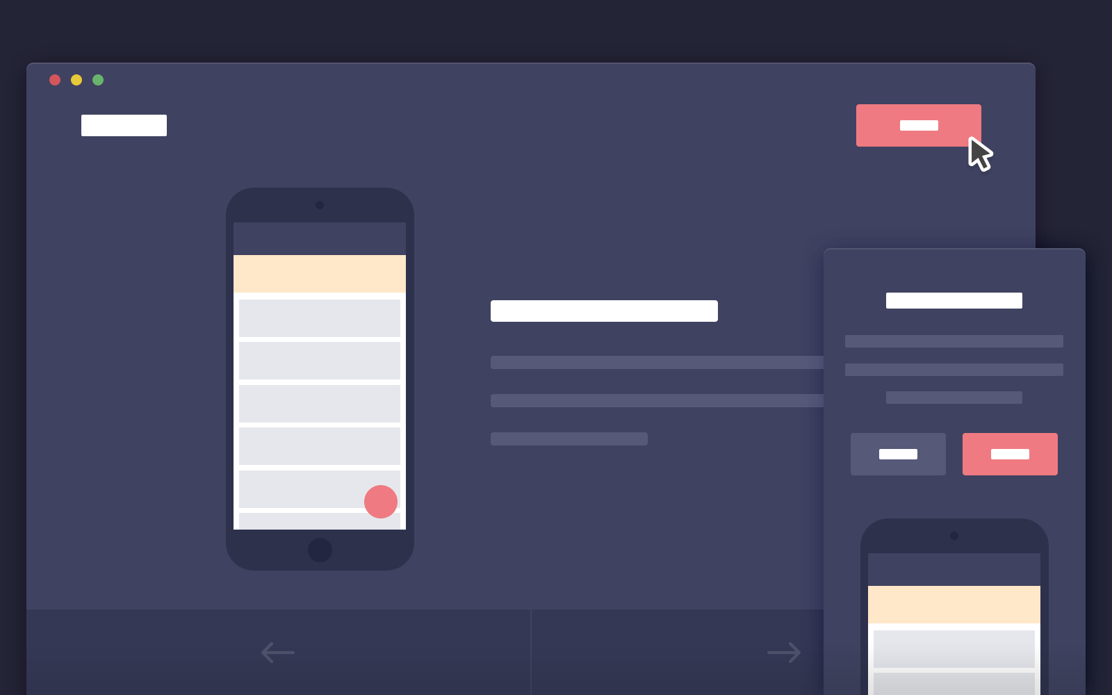 landing page mobile template
