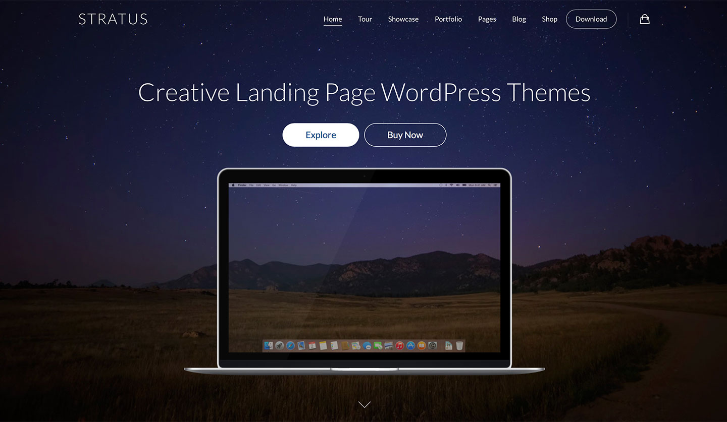Wow landing page template with page builder. Wow has features.