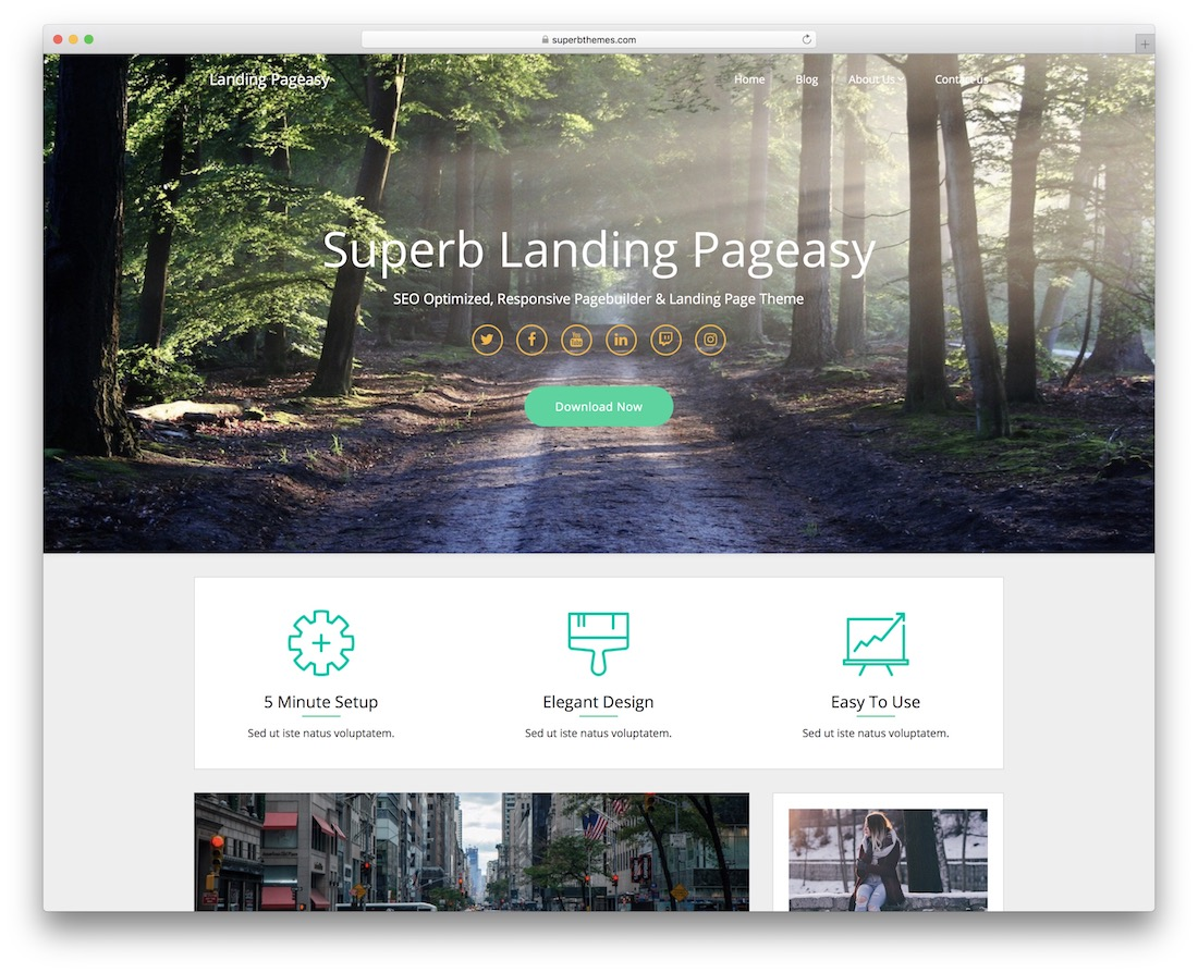 landing pageasy free wordpress theme