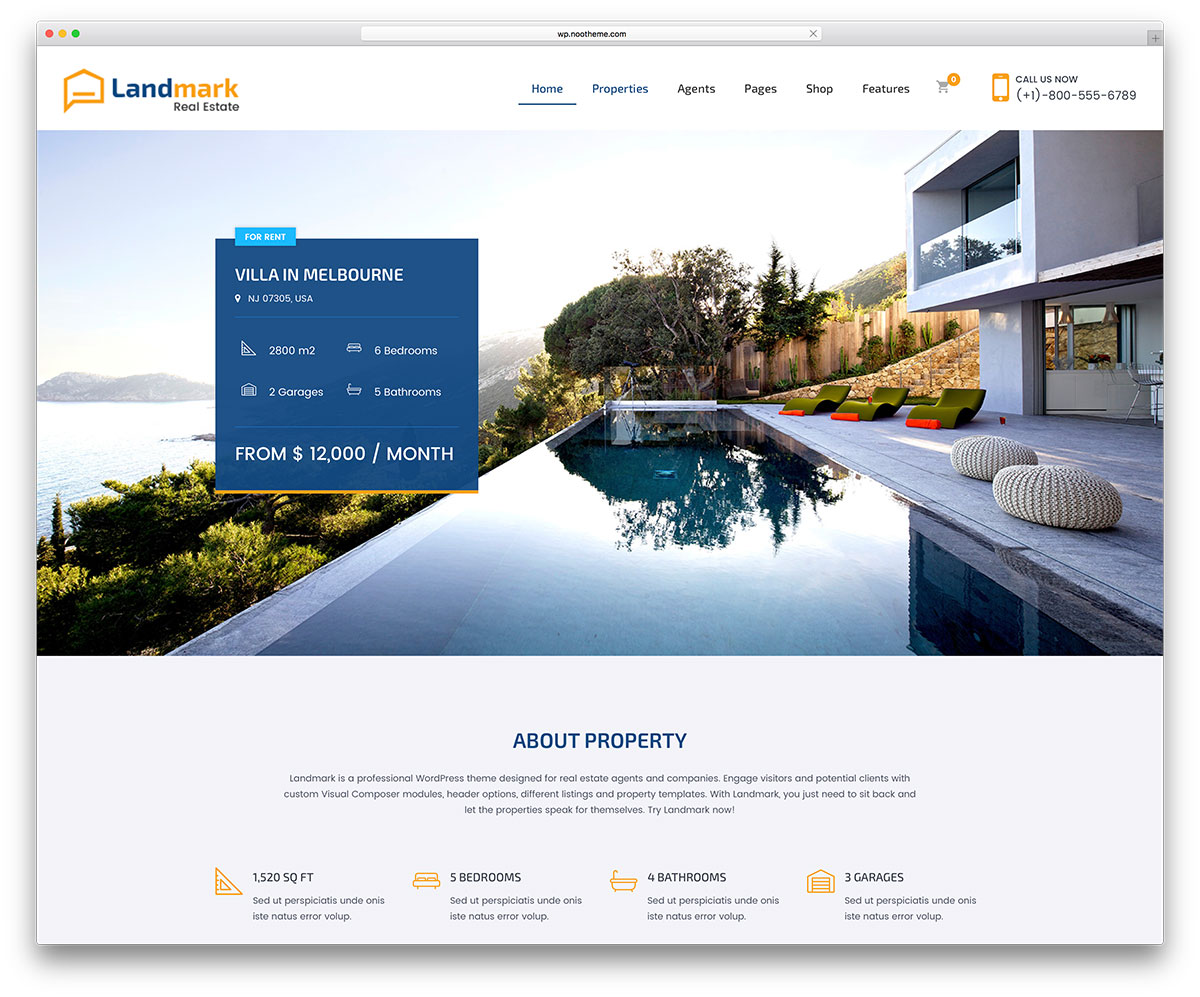 Top 15 realtor wordpress themes for real estate websites 2017 landmark is a premium real estate wordpress theme it makes marketing properties to the world at large an easy matter specialty features like ajax pronofoot35fo Image collections