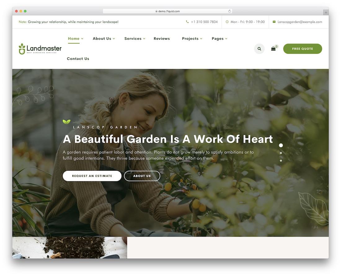 landmaster landscaping wordpress theme