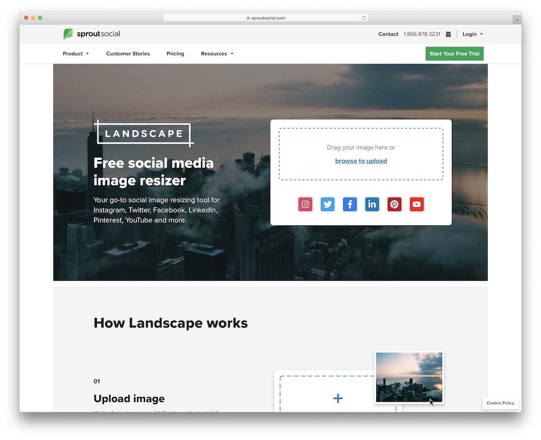landscape by sprout social social meda image resizer