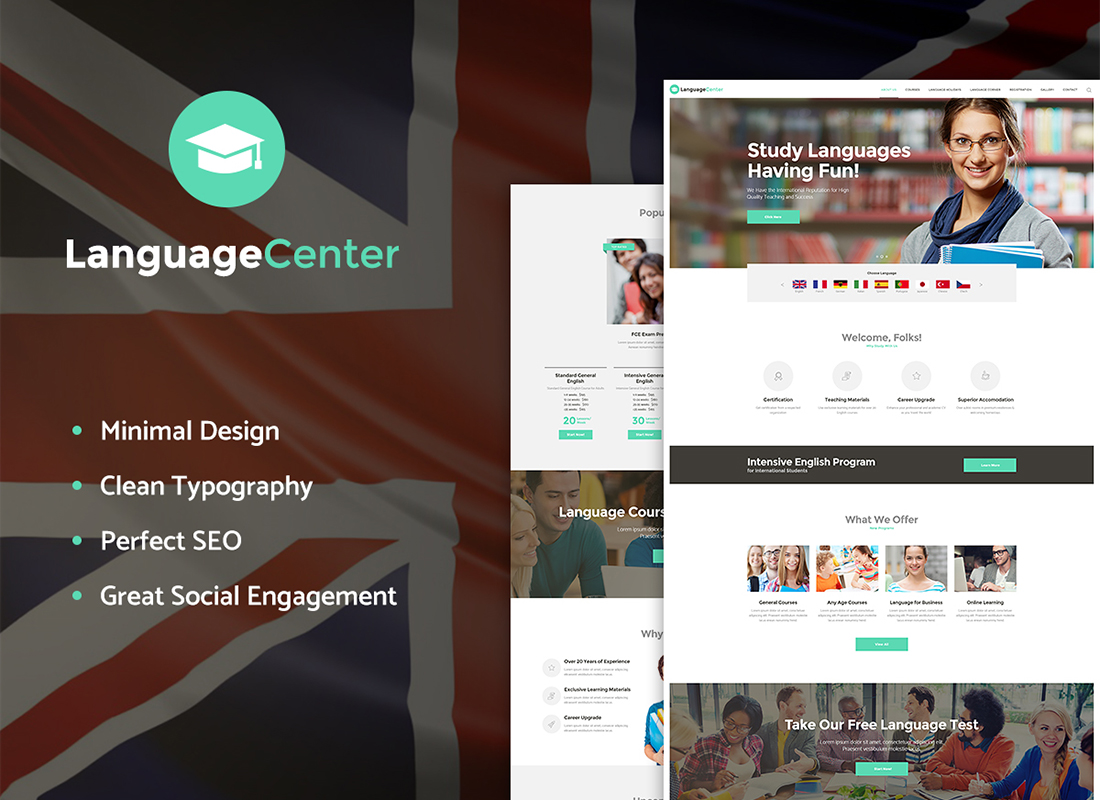 language-center-online-school-wp-theme