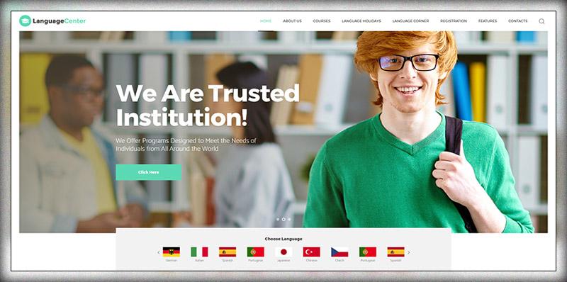 Language Center & Online School WP Theme