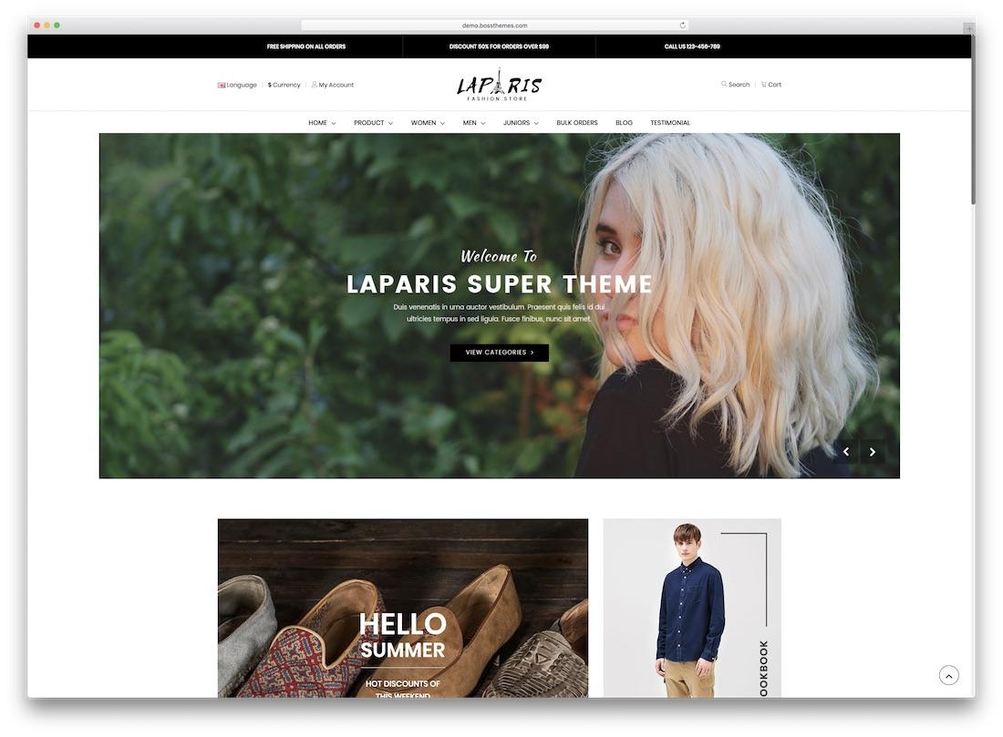 laparis opencart theme