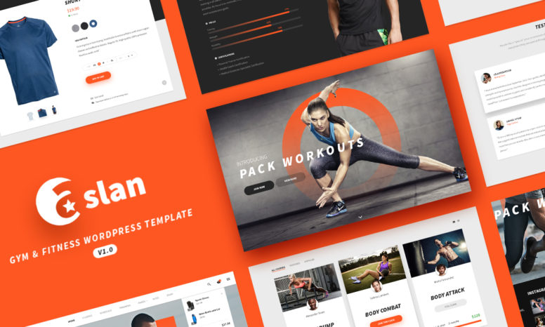 ASLAN – Modern Fitness WordPress Theme For Gym, Fitness Centers