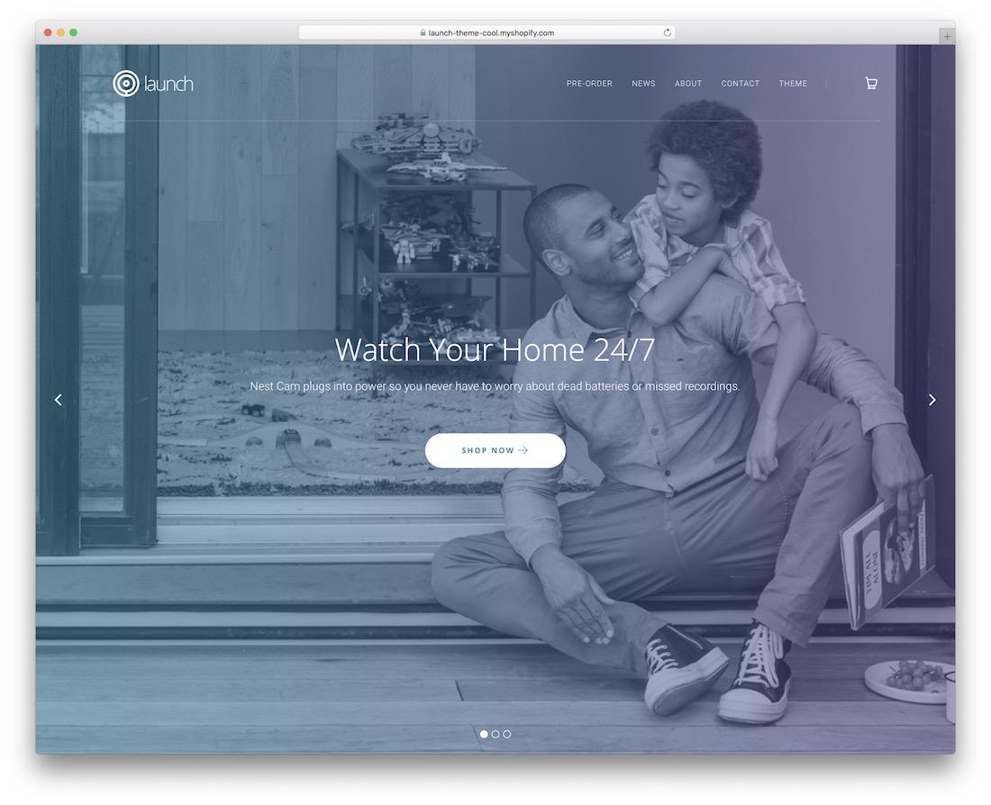launch shopify landing page theme