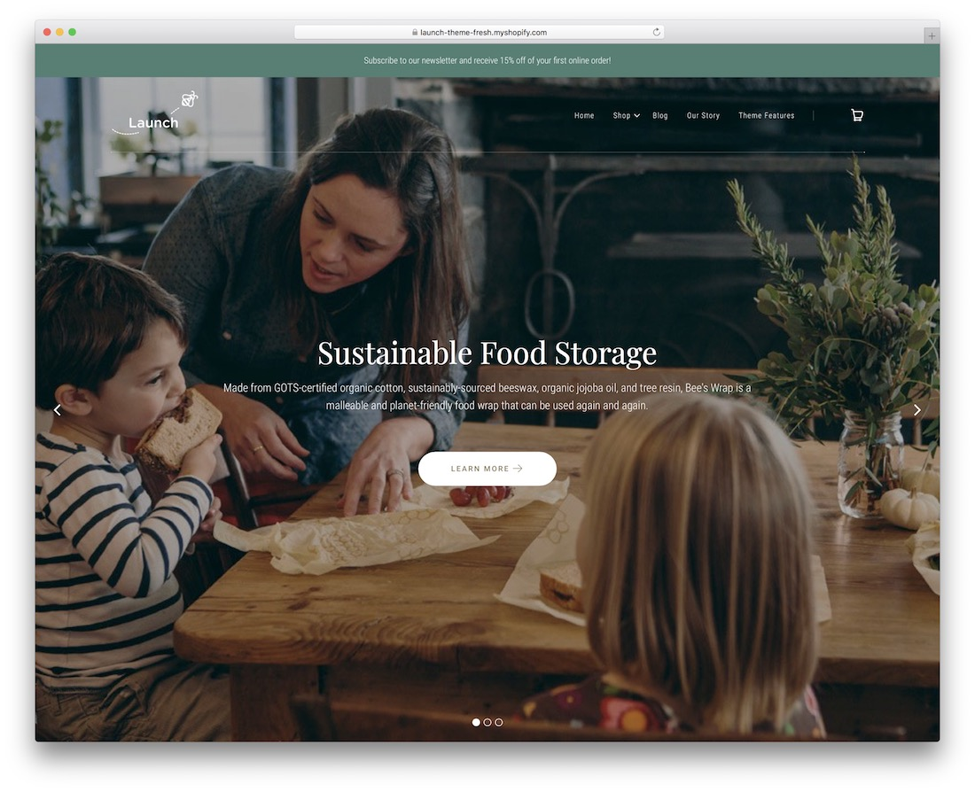 launch shopify restaurant theme