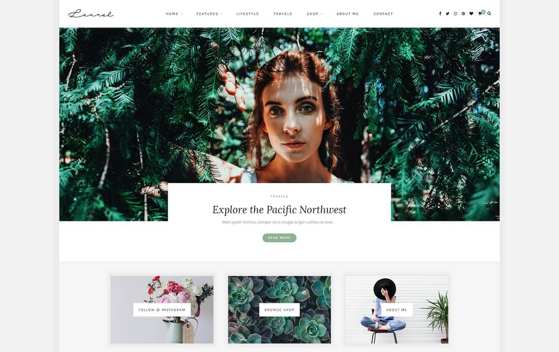 laurel wordpress instagram theme