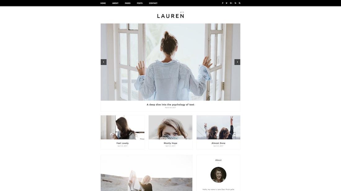 lauren writer website template