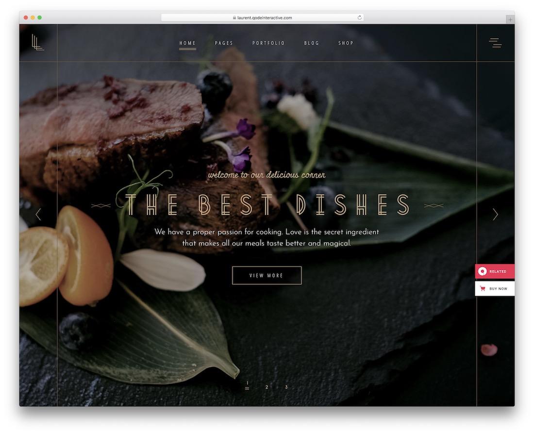 laurent restaurant website template