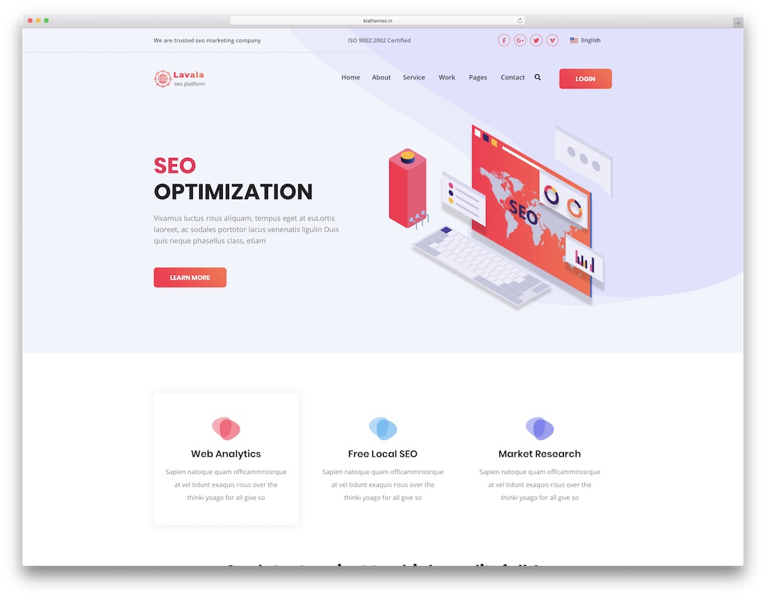 lavala designer website template