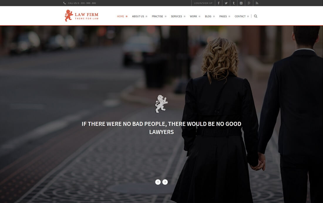 law firm HTML lawyer website template