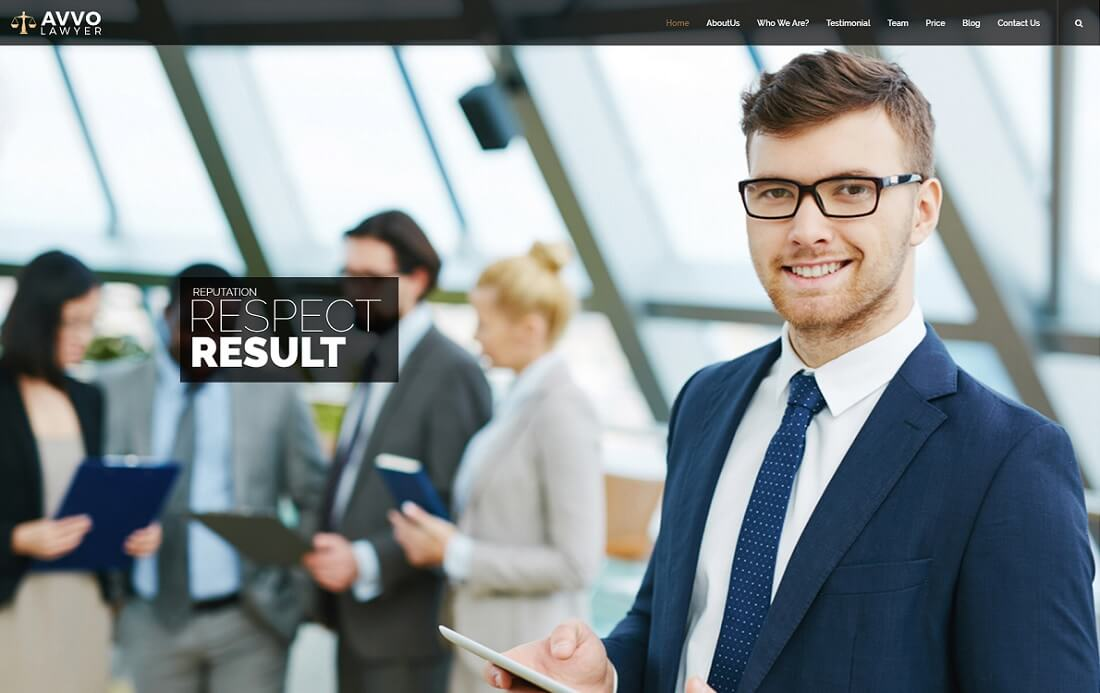 law firm responsive HTML lawyer website template
