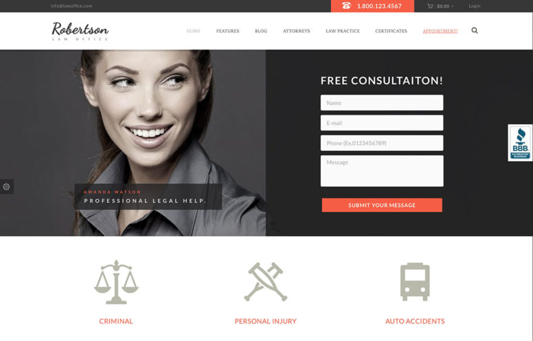 20+ Best Lawyer WordPress Themes For Private Attorneys And Law Firms 2018