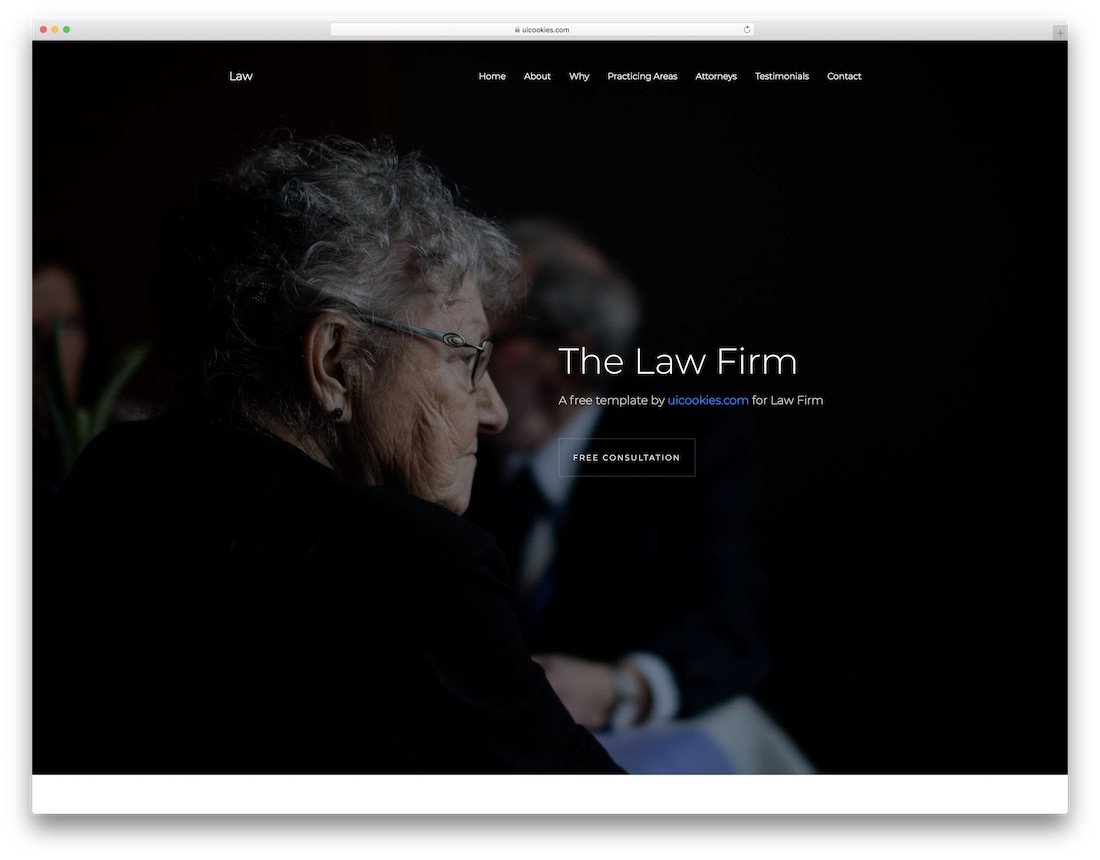 law free lawyer website template