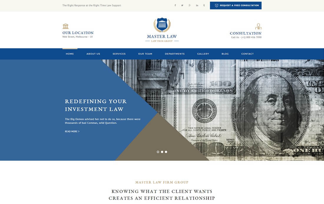 law master HTML lawyer website template
