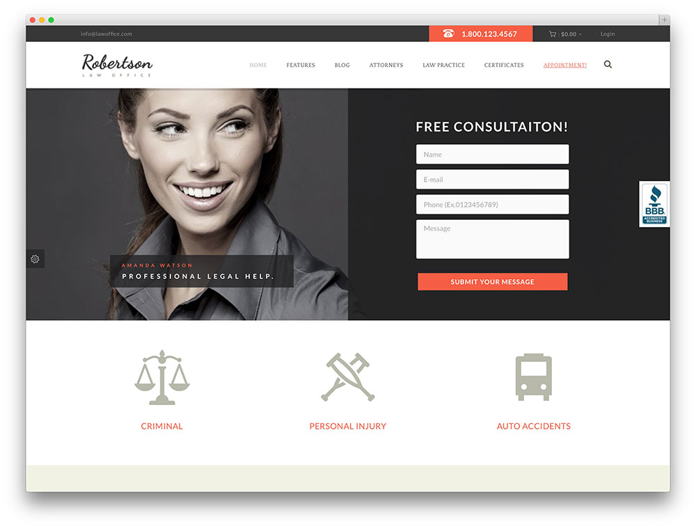 law office multipurpose theme