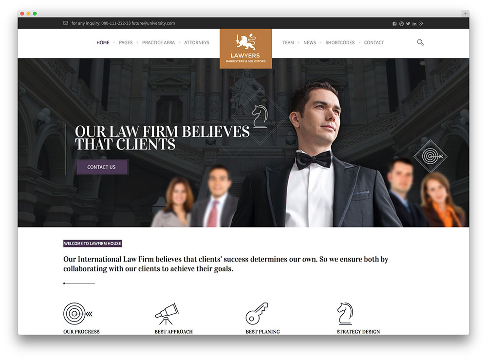 law practice - fullwidth lawyer theme