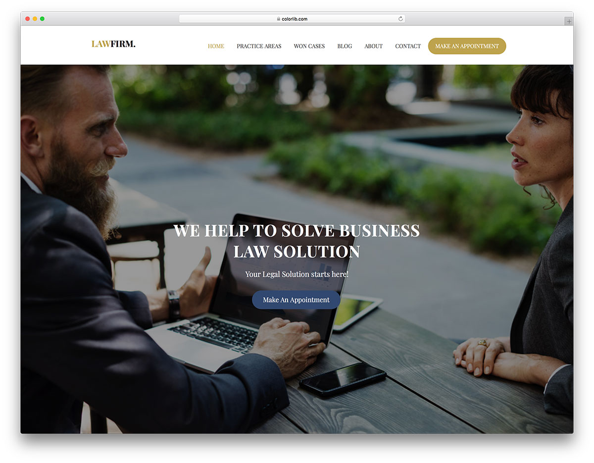 lawfirm free mobile-friendly website template