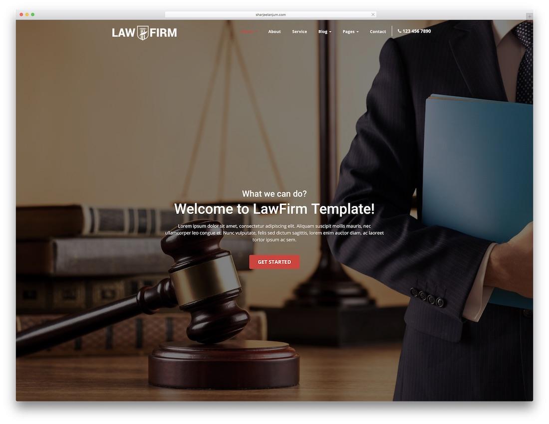 lawfirm website template