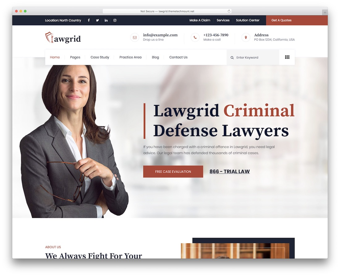 lawgrid lawyer website template