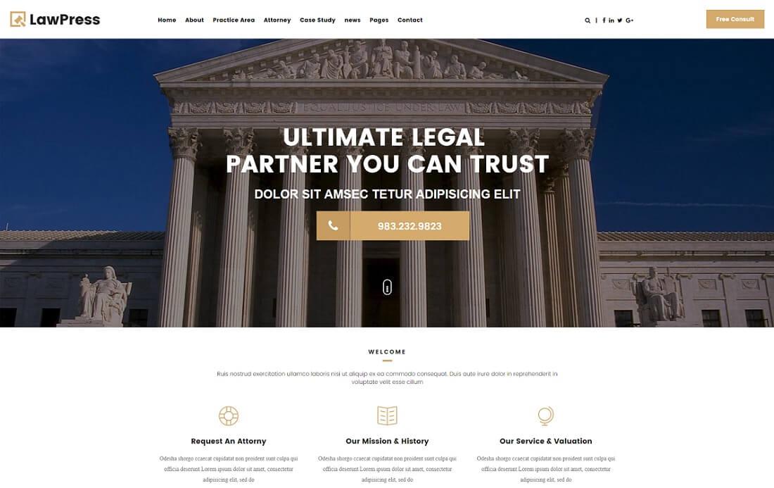 lawpress HTML lawyer website template