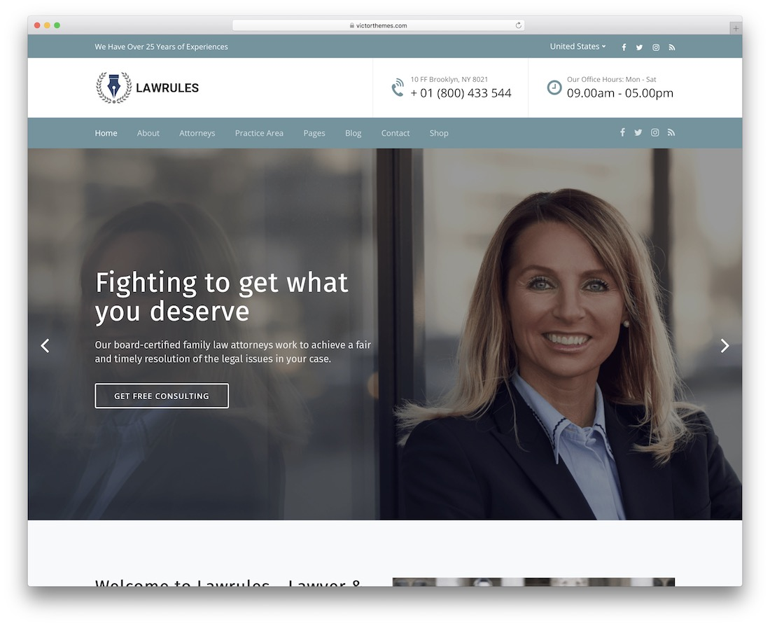 lawrules lawyer wordpress theme