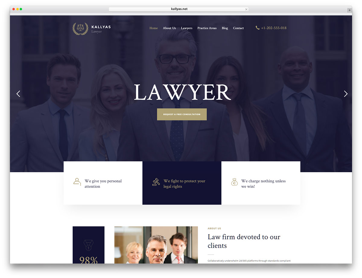 Single attorney websites