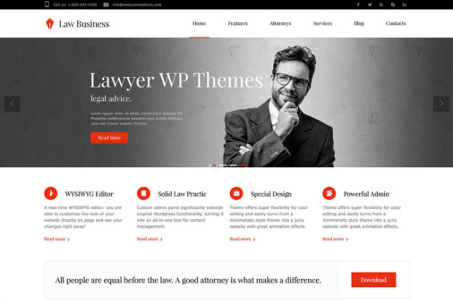 16 Lawyer Attorney Wordpress Themes 2015