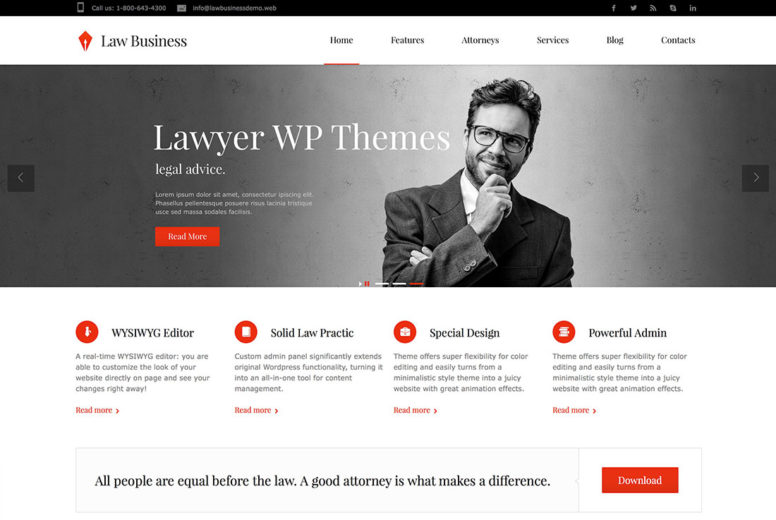 18 Lawyer Attorney WordPress Themes For Private Practice Lawyers And Law Firms 2017